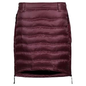 Péřová sukně Skhoop Short Down Velikost: M (38) / Barva: vínová