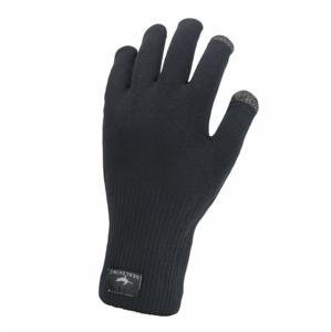 Nepromokavé rukavice Sealskinz WP All Weather Ultra Grip Knitted Velikost rukavic: M / Barva: černá