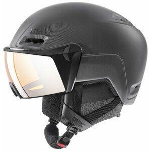 Lyžařská přilba Uvex HLMT 700 Visor Velikost helmy: 59-62 cm / Barva: černá