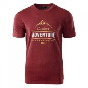 Pánské triko Hi-Tec Clor Velikost: L / Barva: červená