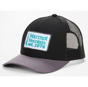 Kšiltovka Marmot Retro Trucker Hat Barva: černá