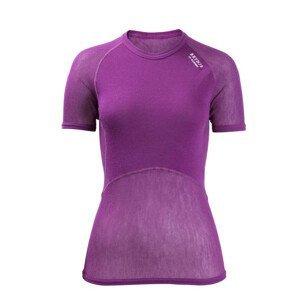 Funkční triko Brynje of Norway Lady Wool Thermo light T-Shirt Velikost: L / Barva: fialová