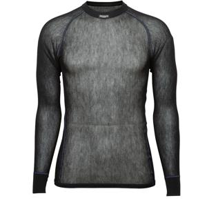 Brynje of Norway Pánské funkční triko Brynje Wool Thermo light Shirt Velikost: XXL / Barva: černá