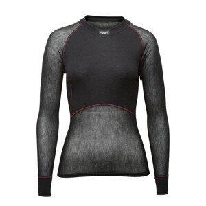 Funkční triko Brynje of Norway Lady Wool Thermo light Shirt Velikost: S / Barva: černá
