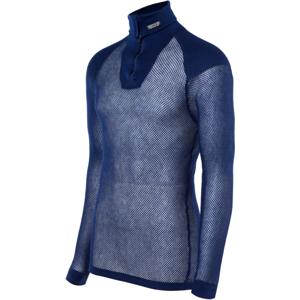 Brynje of Norway Pánský funkční rolák Brynje Super Thermo Zip polo Shirt w/inlay Velikost: XXL / Barva: tmavě modrá