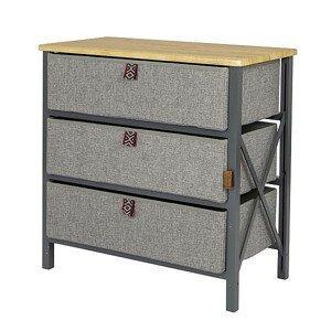Skříň Bo-Camp Cabinet Northwood Wide 3 Barva: šedá