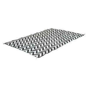 Piknikový koberec Bo-Camp Chill Mat Carpet XL Wave 3,5x2,7 Barva: černá/bílá