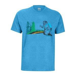 Pánské triko Marmot Trek Tee SS Velikost: XXL / Barva: modrá