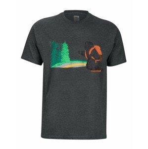 Pánské triko Marmot Trek Tee SS Velikost: XXL / Barva: šedá