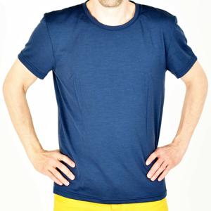 Pánské triko Devold Eika Man Tee Velikost: XL / Barva: tmavě modrá
