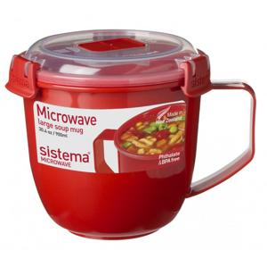 Hrnek Sistema Large Soup Mug Barva: červená