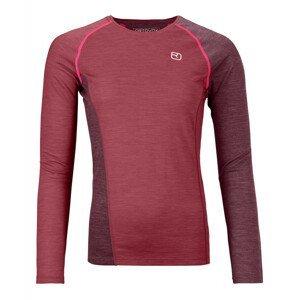 Dámské triko Ortovox 120 Cool Tec Fast Upward Long sleeve W Velikost: S / Barva: červená
