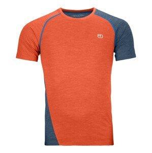 Pánské triko Ortovox 120 Cool Tec Fast Upward T-shirt M Velikost: XL / Barva: oranžová