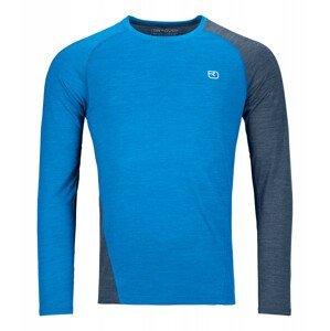 Pánské triko Ortovox 120 Cool Tec Fast Upward Ls M Velikost: S / Barva: modrá