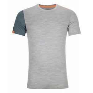 Pánské triko Ortovox 185 Rock'N'Wool Short Sleeve M Velikost: S / Barva: šedá