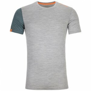 Pánské triko Ortovox 185 Rock'N'Wool Short Sleeve M Velikost: XL / Barva: šedá