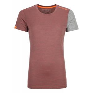 Dámské triko Ortovox 185 Rock'N'Wool Short Sleeve W Velikost: M / Barva: červená