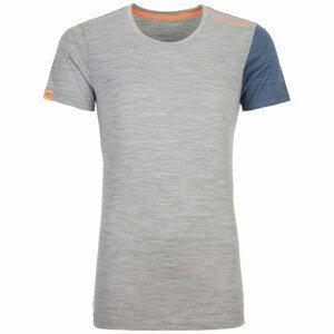 Dámské triko Ortovox 185 Rock'N'Wool Short Sleeve W Velikost: L / Barva: světle šedá