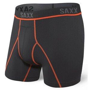 Pánské boxerky Saxx Kinetic HD Boxer Brief Velikost: M / Barva: černá/červená