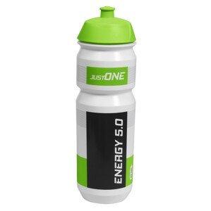 Cyklistická láhev Just One Energy 5.0 750 ml Barva: bílá/zelená