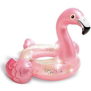 Nafukovací plameňák Intex Glitter Flamingo Tube 56251NP