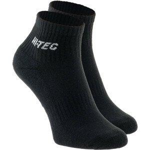 Ponožky Hi-tec Quarro Pack Velikost ponožek: 44-47 / Barva: černá
