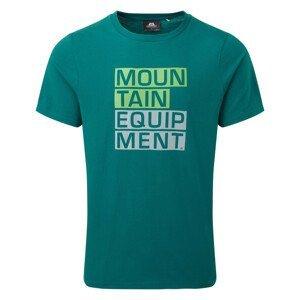 Pánské triko Mountain Equipment Block Letter Tee Velikost: S / Barva: modrá