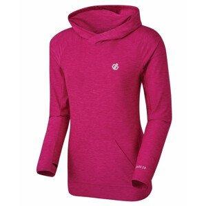 Dámské triko Dare 2b Sprint Cty Hoodie Velikost: XS / Barva: růžová/bílá