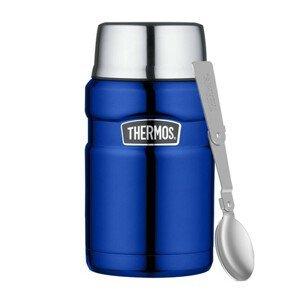 Termoska na jídlo se skládací lžící a šálkem Thermos 710 ml Barva: modrá