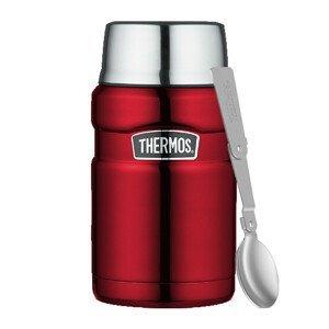 Termoska na jídlo se skládací lžící a šálkem Thermos 710 ml Barva: červená