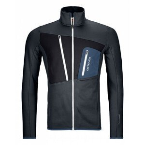 Pánská mikina Ortovox Fleece Grid Jacket Velikost: L / Barva: černá