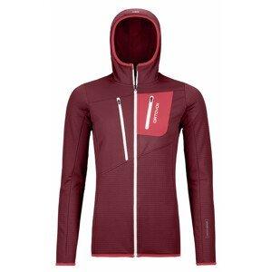 Dámská mikina Ortovox W's Fleece Grid Hoody Velikost: L / Barva: červená