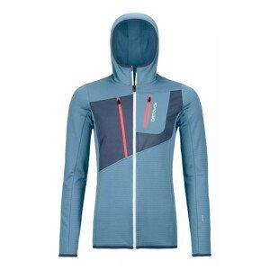Dámská mikina Ortovox W's Fleece Grid Hoody Velikost: M / Barva: světle modrá