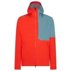 Pánská bunda La Sportiva Crizzle Jkt M Velikost: XL / Barva: červená/šedá