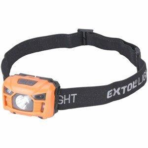 Čelovka Extol 100lm, nabíjecí, USB, 3W LED Barva: oranžová