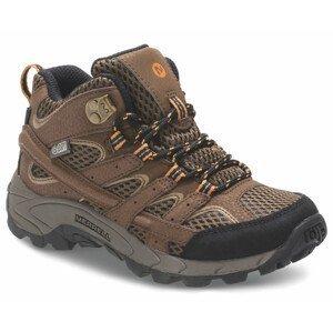 Dětské boty Merrell Moab 2 Mid A/C Wtpf Dětské velikosti bot: 31 (UK C12) / Barva: hnědá