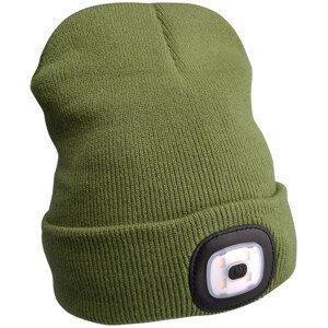Čepice s čelovkou Extol Light Barva: zelená