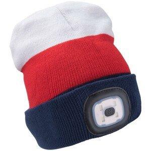 Čepice s čelovkou Extol Light Barva: modrá/bíla