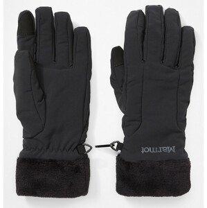 Dámské rukavice Marmot Wm's Fuzzy Wuzzy Glove Velikost rukavic: S / Barva: černá
