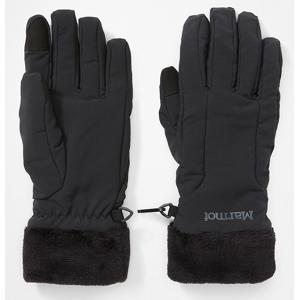 Dámské rukavice Marmot Wm's Fuzzy Wuzzy Glove Velikost rukavic: M / Barva: černá