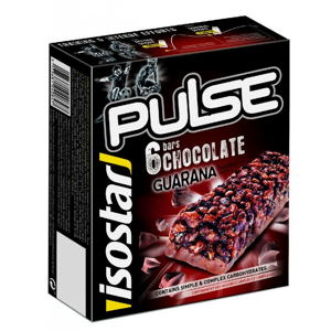 Energetické tyčinky Isostar Pulse bar Quarana 6x23g Příchuť: čokoláda