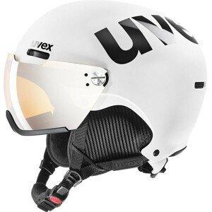 Lyžařská přilba Uvex HLMT 500 Visor Velikost helmy: 55-59 cm / Barva: bílá/černá