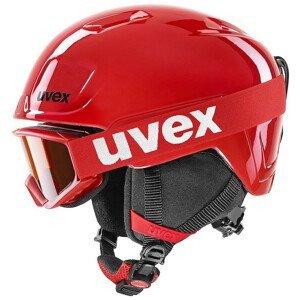 Dětská lyžařská přilba Uvex Heyya Set Velikost helmy: 46-50 cm / Barva: červená/černá