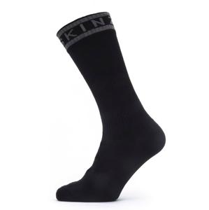 Nepromokavé ponožky SealSkinz WF Warm Weather Mid Length with Hydrostop Velikost ponožek: 39-42 / Barva: černá/šedá
