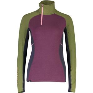 Dámské triko Mons Royale Olympus 3.0 Half Zip Velikost: M / Barva: růžová/zelená
