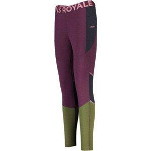 Dámské legíny Mons Royale Olympus 3.0 Legging Velikost: S / Barva: růžová/zelená