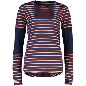 Dámské funkční triko Mons Royale Cornice LS Velikost: M / Barva: modrá/červená