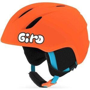 Dětská lyžařská přilba Giro Launch Mat Velikost helmy: 52-55,5 cm / Barva: oranžová