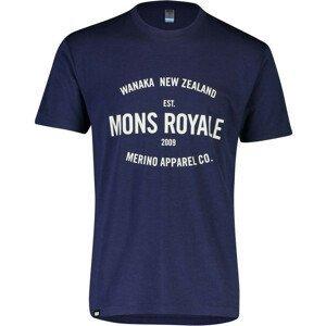 Pánské triko Mons Royale Icon T-Shirt Velikost: L / Barva: modrá