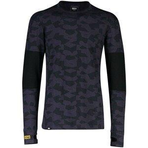 Pánské funkční triko Mons Royale Alta Tech LS Crew Velikost: L / Barva: černá